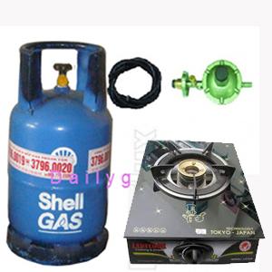 bộ bếp gas đơn kính dynamic
